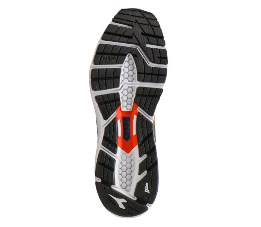 suola scarpa da running neutra diadora mythos blushield 6 arancione