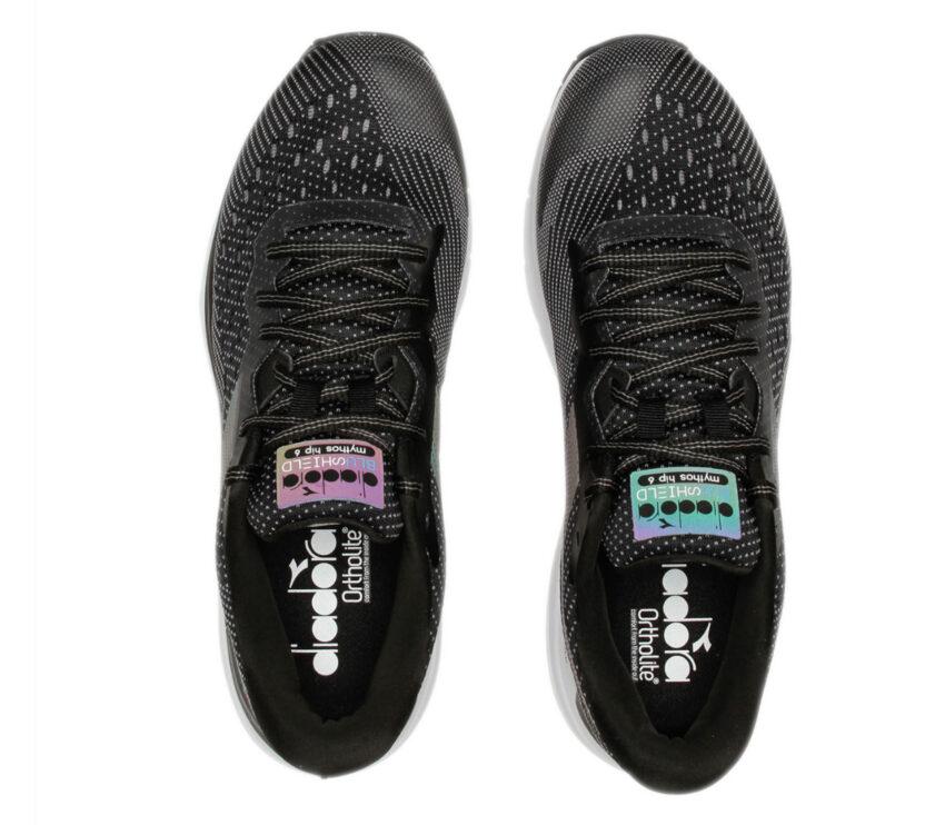 tomaia scarpa da running uomo diadora mythos blushield hip 6 nera