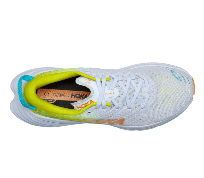 tomaia scarpa da running con fibra di carbonio hoka bondi x donna
