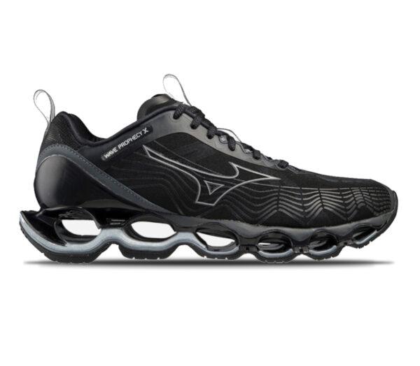 scarpa da running ammortizzata da uomo mizuno prophecy x nera