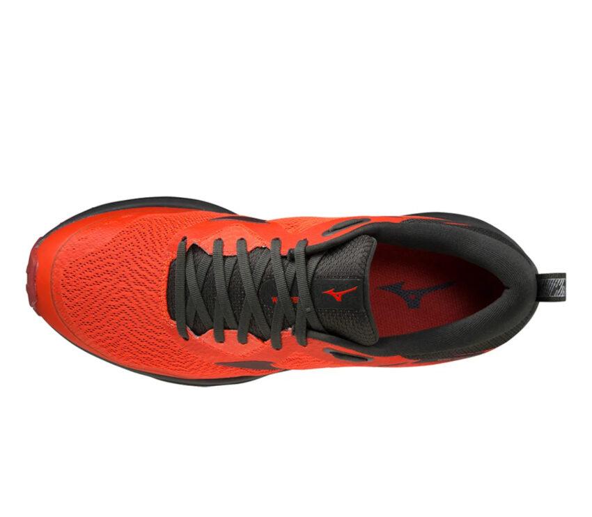 tomaia scarpa da trail running e asfalto mizuno rider tt rossa