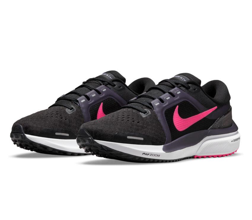 coppia scarpe running donna nike zoom vomero nere e rosa