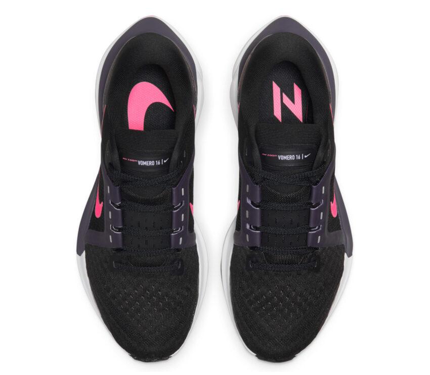 tomaia scarpe running donna nike zoom vomero nere e rosa