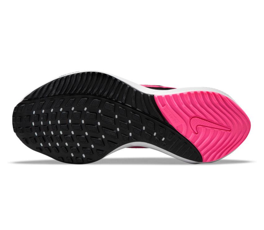 suola scarpe running donna nike zoom vomero nere e rosa