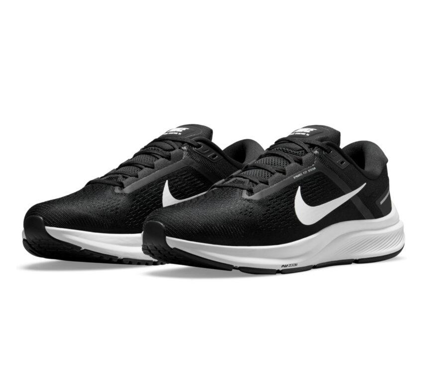 coppia scarpa da running per pronatori uomo nike structure 24 nera