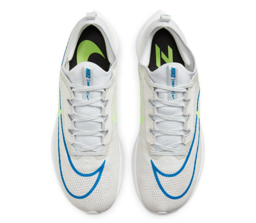 tomaia scarpe running fibra di carbonio nike zoom fly 4 bianche