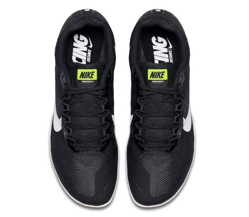 scarpa da pista mezzofondo nike zoom rival d 10 nera