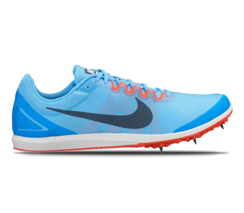 scarpa da pista mezzofondo nike zoom rival d 10 blu