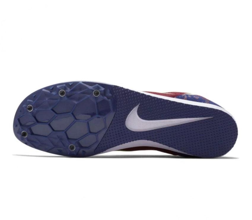 suola scarpa da pista mezzofondo nike zoom rival d 10 granata e blu