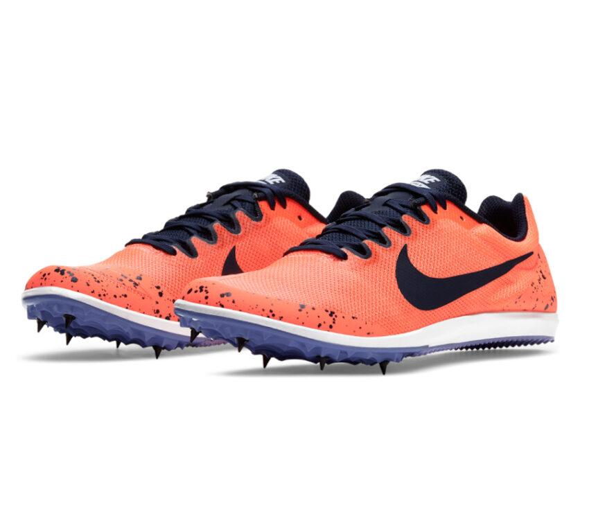 coppia scarpa da pista mezzofondo nike zoom rival d 10 arancio