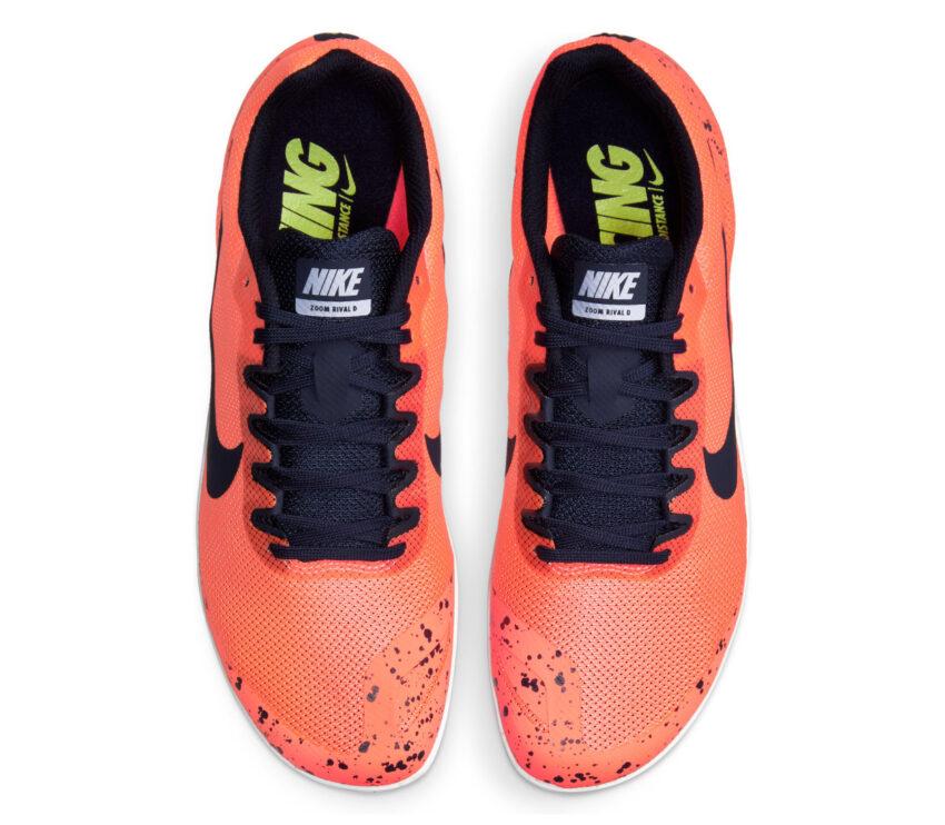 tomaia scarpa da pista mezzofondo nike zoom rival d 10 arancio