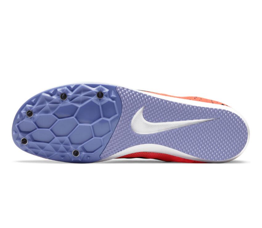 suola scarpa da pista mezzofondo nike zoom rival d 10 arancio
