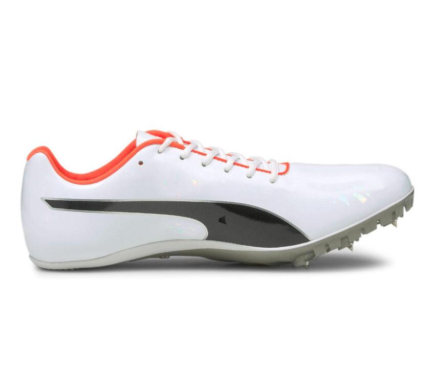 scarpa da pista da sprinter unisex puma evospeed sprint 10 bianca