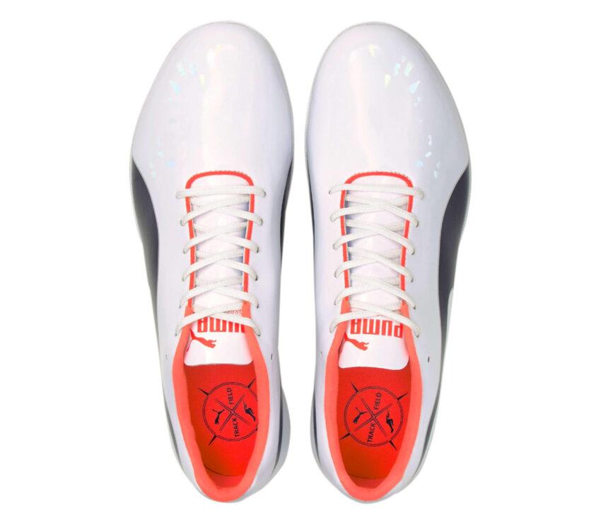 tomaia scarpa da pista da sprinter unisex puma evospeed sprint 10 bianca