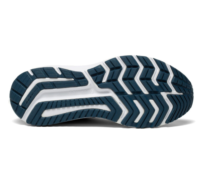 suola scarpa running uomo pronazione saucony omni 20 blu