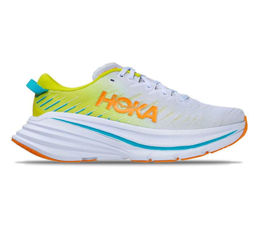 scarpa da running con fibra di carbonio hoka bondi x uomo