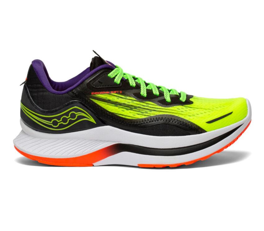 scarpa da running donna reattiva saucony endorphin shift 2 fluo