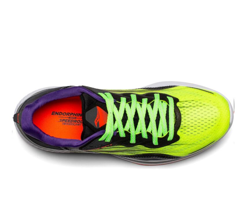 tomaia scarpa da running donna reattiva saucony endorphin shift 2 fluo
